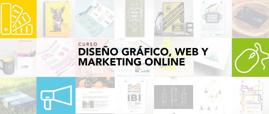 Curso Diseño gráfico y Diseño web. Además, marketing on line.