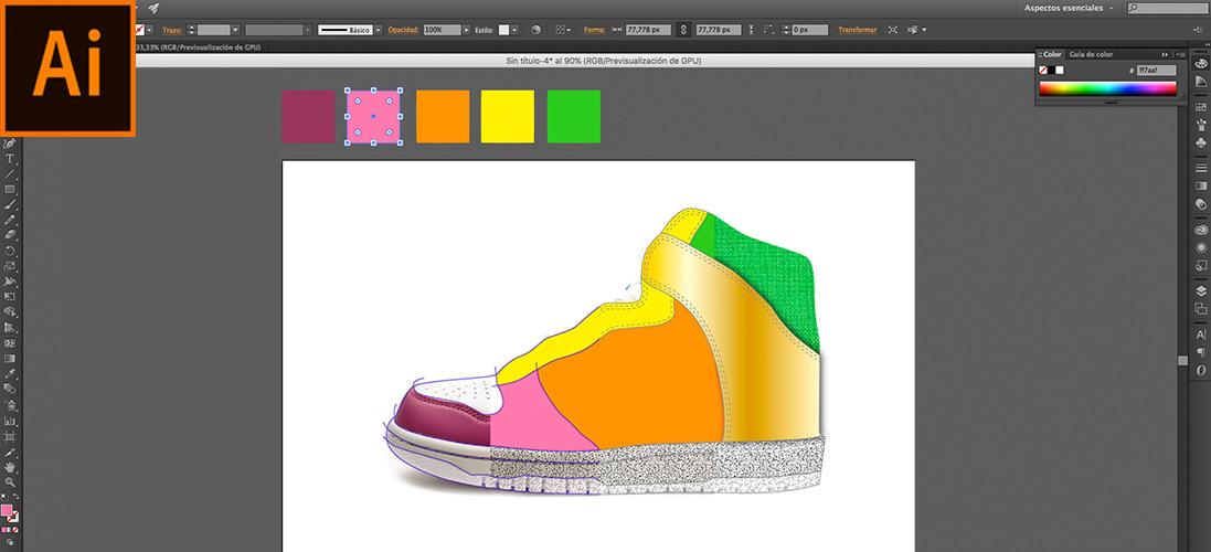 Adobe ilustrator para calzado, cursos en Elche