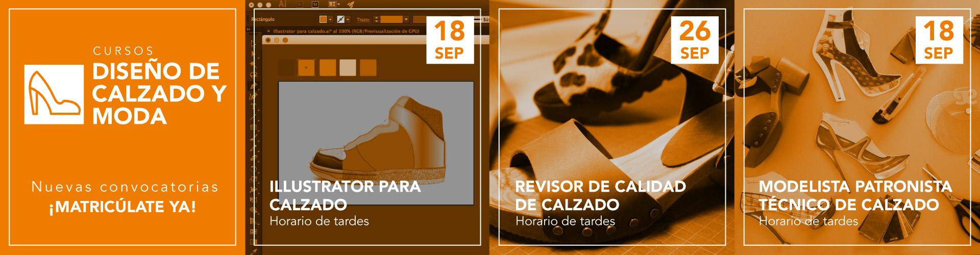 Curso Diseño gráfico y Diseño web. Además, marketing on line. Cursos de calzado.