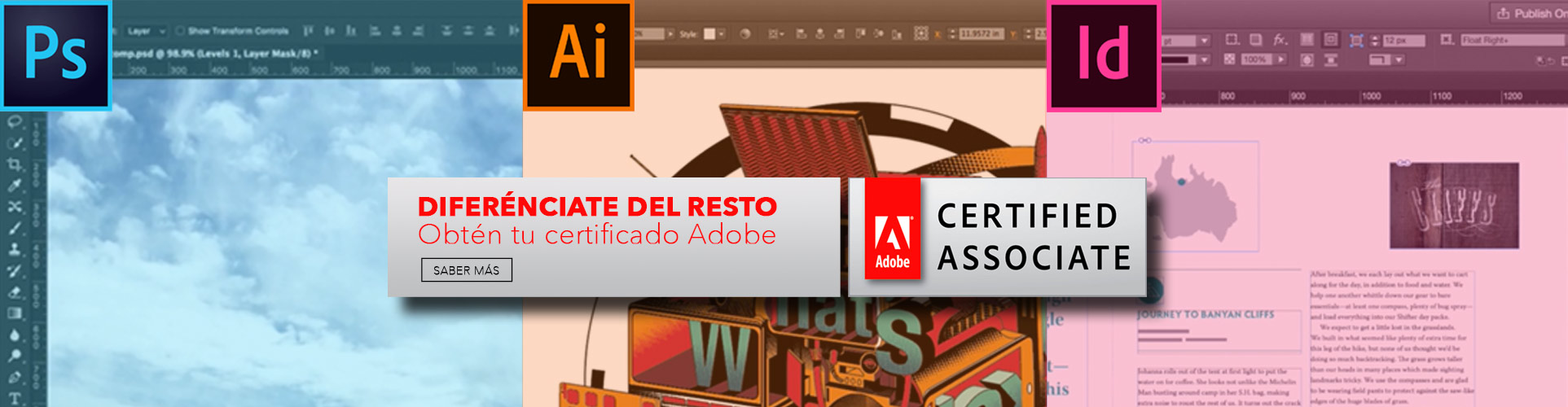 Examen de Certificado Adobe Associate (ACA) Elche Photoshop, Illustrator, InDesing