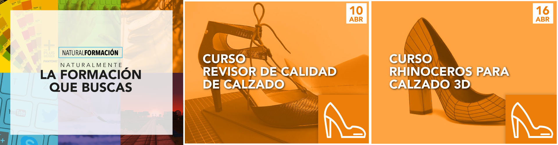 Curso de revisor de calidad de calzado y curso Rhinoceros para calzado 3d