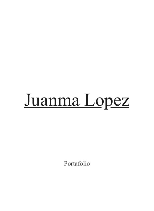 Portfolio Juanma López - alumno Natural Formación
