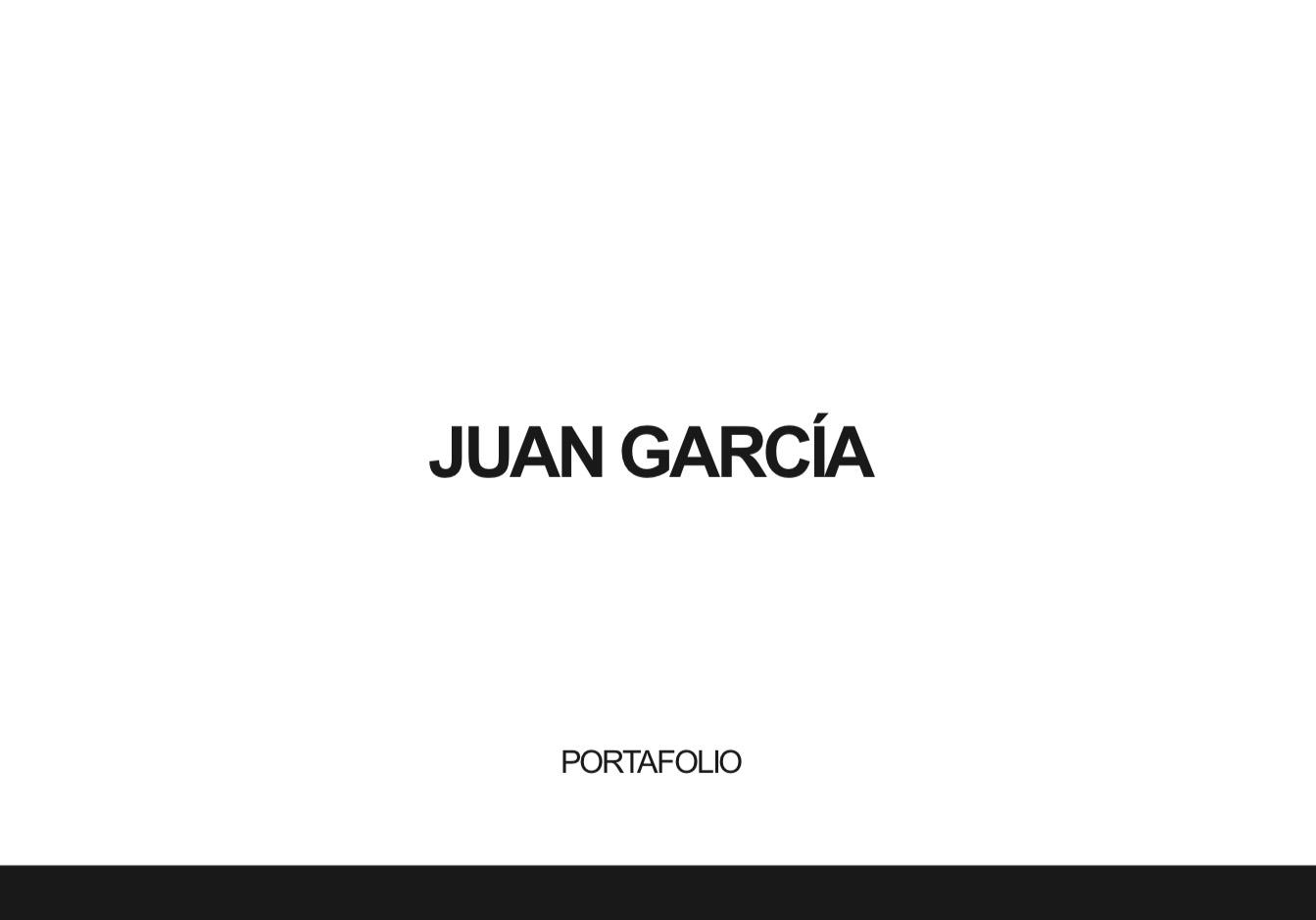 Portfolio de Juan García - alumno Natural Formación