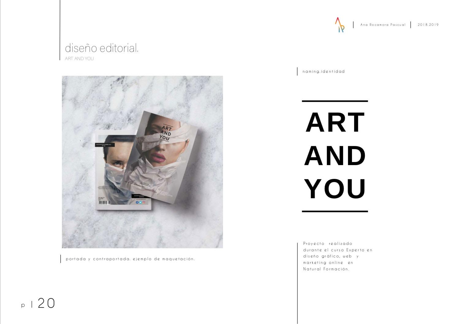 Ana Rocamora - Portfolio - Diseño Gráfico - Natural Formación