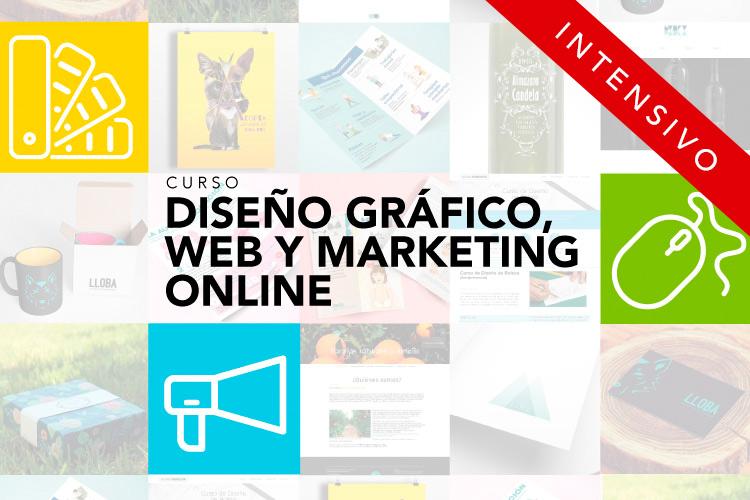 Curso intensivo Experto en Diseño Gráfico, Web y Marketing Online